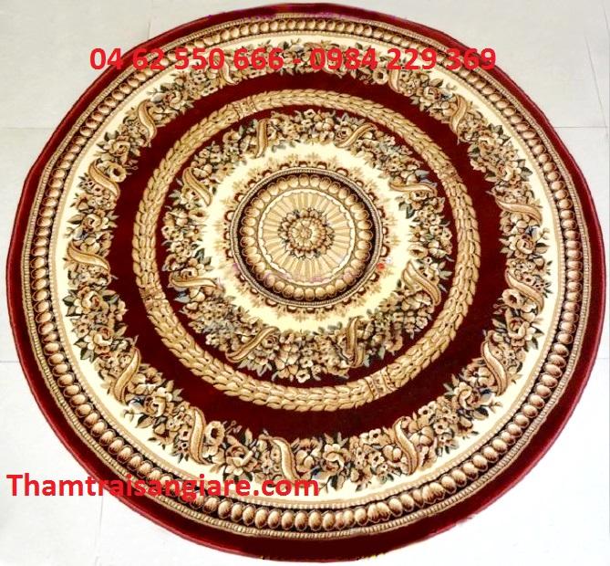 Thảm hình tròn Maroon 7608-88