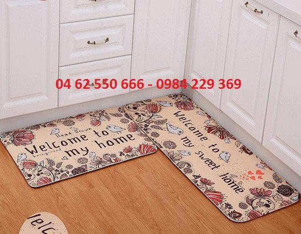bộ 2 thảm nhà bếp
