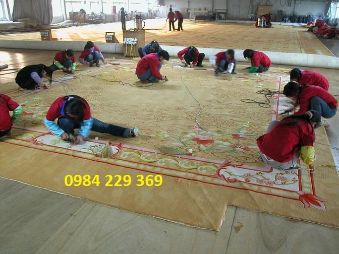 xưởng dệt thảm
